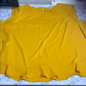 Loft Plus Size 26 Mustard Yellow Sleeveless Tank